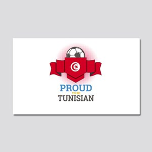 Football Tunisia Tunisians Socc Car Magnet 20 x 12