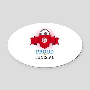 Football Tunisia Tunisians Soccer Oval Car Magnet