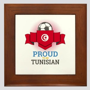 Football Tunisia Tunisians Soccer Team Framed Tile