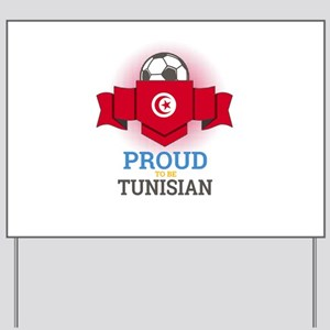 Football Tunisia Tunisians Soccer Team S Yard Sign