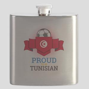 Football Tunisia Tunisians Soccer Team Sport Flask