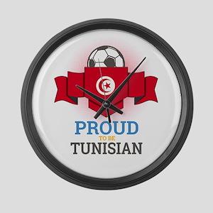 Football Tunisia Tunisians Soccer Large Wall Clock