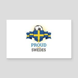Football Swedes Sweden Soccer Rectangle Car Magnet