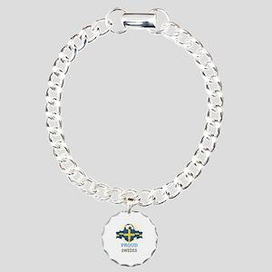 Football Swedes Sweden S Charm Bracelet, One Charm