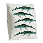 Cymbospondylus Burlap Throw Pillow