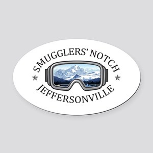 Smugglers' Notch - Jeffersonvill Oval Car Magnet