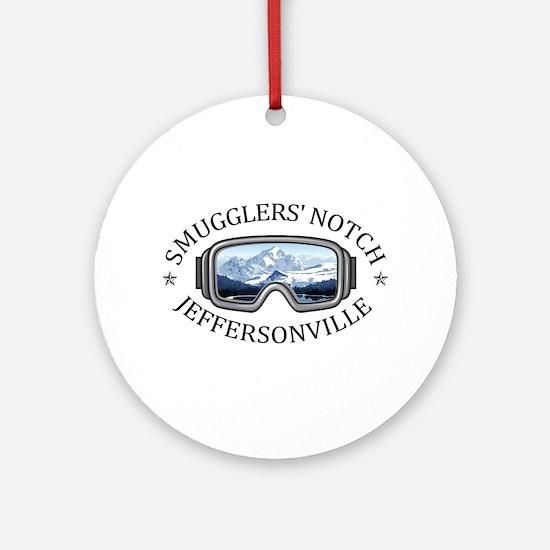 Smugglers' Notch - Jeffersonville Round Ornament