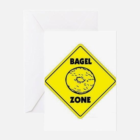 Bagel Zone Greeting Card
