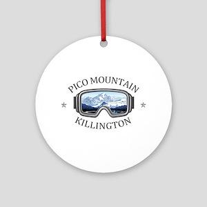 Pico Mountain - Killington - Verm Round Ornament