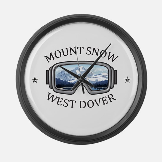 Mount Snow - West Dover - Vermo Large Wall Clock