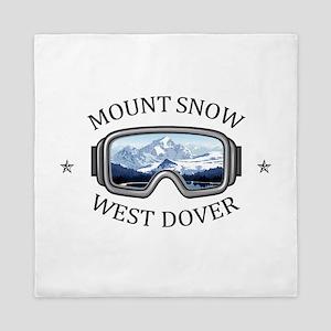 Mount Snow - West Dover - Vermont Queen Duvet
