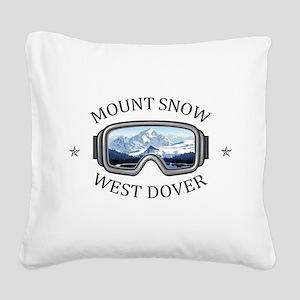 Mount Snow - West Dover - V Square Canvas Pillow