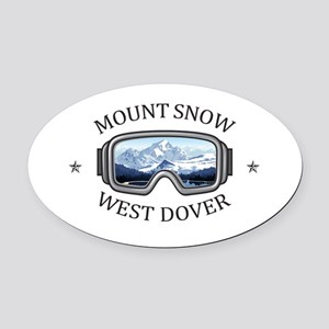 Mount Snow - West Dover - Vermon Oval Car Magnet