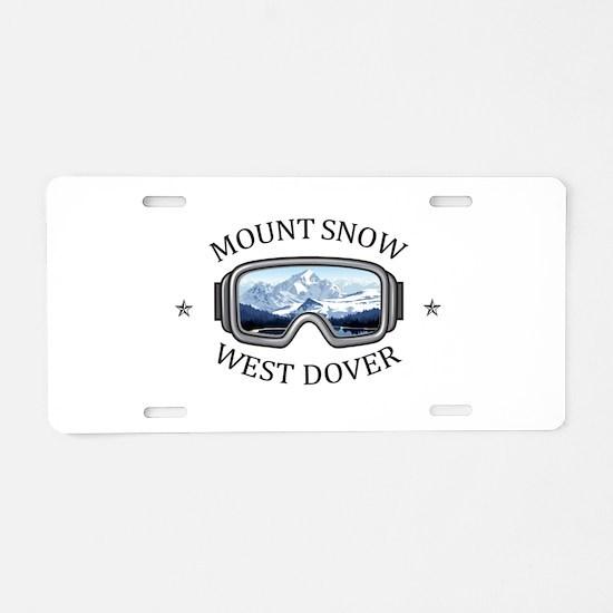 Mount Snow - West Dover - Aluminum License Plate