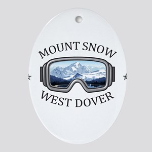 Mount Snow - West Dover - Vermont Oval Ornament