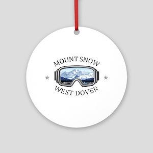 Mount Snow - West Dover - Vermont Round Ornament