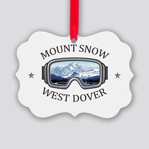 Mount Snow - West Dover - Vermo Picture Ornament