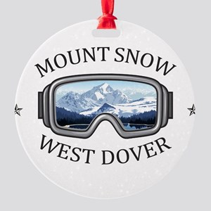 Mount Snow - West Dover - Vermont Round Ornament