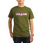 Pink Ribbon Penguin Organic Men's T-Shirt (dark)