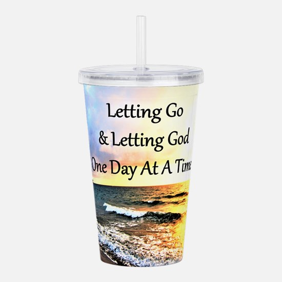 LET GO LET GOD Acrylic Double-wall Tumbler