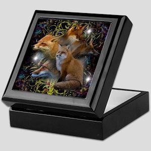 Foxes Keepsake Box