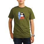 Surfing Macaroni Penguin Organic Men's T-Shirt (da