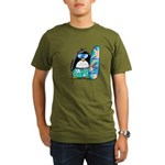 Surfing Penguin Organic Men's T-Shirt (dark)