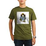 Treasure Hunter Penguin Organic Men's T-Shirt (dar