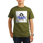 Blue CheerLeader Penguin Organic Men's T-Shirt (da