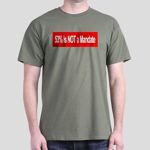 53% is NOT a Mandate - Dark T-Shirt