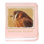 American Kestrel baby blanket