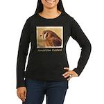 American Kestrel Women's Long Sleeve Dark T-Shirt