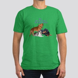 are you the Easter Bunny Dogs Men's Fitted T-Shirt