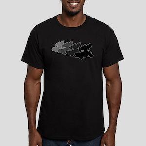 Sprintcars-4abreast Men's Fitted T-Shirt (dark)