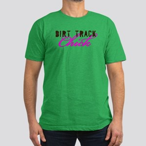 Dirt Track Chick Men's Fitted T-Shirt (dark)