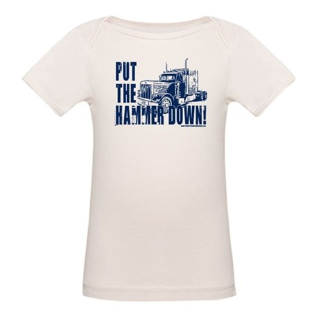 Trucker-Hammer Down-Blue Organic Baby T-Shirt