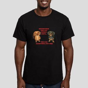 Potato Chips Men's Fitted T-Shirt (dark)