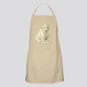 Cute White Polar Bear Light Apron