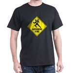 Superhero Sign Black T-Shirt