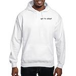 Opt to Adopt text pocket Hooded Sweatshirt