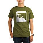 Climbing Girl Icon Organic Men's T-Shirt (dark)