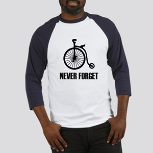 Never Forget Antique Bicycle Baseball Jersey