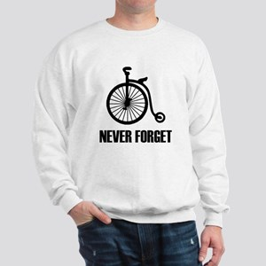 Never Forget Antique Bicycle Sweatshirt