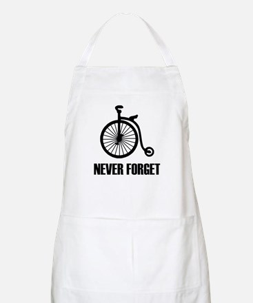 Never Forget Antique Bicycle Apron