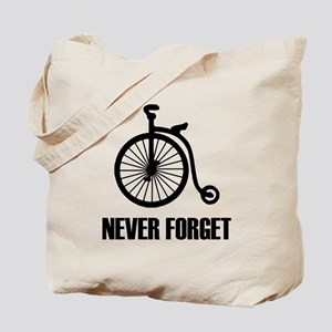 Never Forget Antique Bicycle Tote Bag