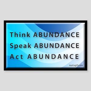 Think Abundance Rectangle Sticker