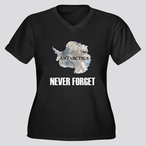 Never Forget Antarctica 1 Women's Plus Size V-Neck