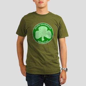 Silver Shamrock Organic Men's T-Shirt (dark)