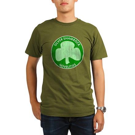 Silver Shamrock Organic Mens Dark T-Shirt