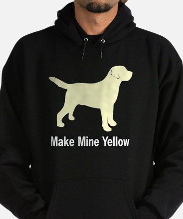 Make Mine Yellow Lab Hoodie (dark)